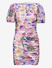 Ganni - Printed Mesh - summer dresses - multicolour - 0