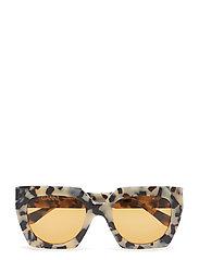 Double Layered Sunglasses Wayfarer Solglasögon Beige GANNI