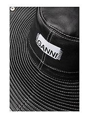 Ganni - Lamb Leather Accessories - hatte - black - 5