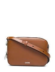 Textured Leather Bag - COGNAC