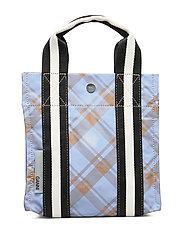 Check Print Bags Mini Tote - TANNIN