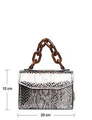 Ganni - Leather - top handle tasker - silver - 4