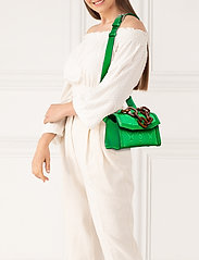 Ganni - Leather - top handle tasker - island green - 0