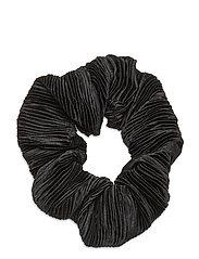 Pleated Satin - BLACK
