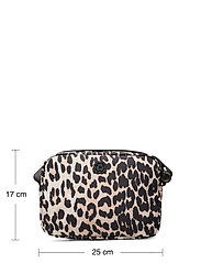 Ganni - Recycled Tech Fabric Bags - shoulder bags - leopard - 3