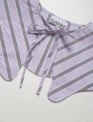 Ganni - Stripe Cotton - accessories - misty lilac - 2