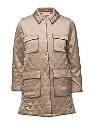 Leclair Satin Jacket - Cuban Sand
