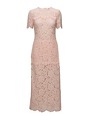 Duval Lace Maxi Dress - Cloud Pink
