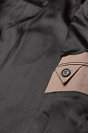 Ganni - Phillips Cotton - kevyet takit - chanterelle - 5