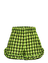 Seersucker Check Shorts - NEON MAIZE