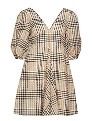 Seersucker Check Dress - IRISH CREAM