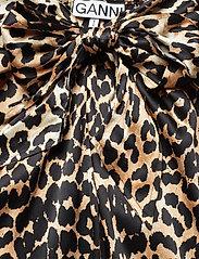 Ganni - Silk Stretch Satin Skirt - maxi skirts - leopard - 2