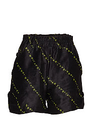 Silk Linen Shorts - BLACK