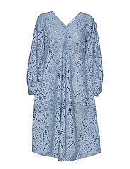 Broderie Anglaise Dress - FOREVER BLUE