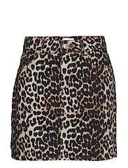 Print Denim Skirt