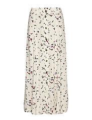 Printed Crepe Skirt - EGRET