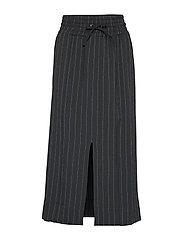Heavy Crepe Skirt - BLACK