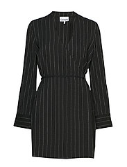 Heavy Crepe Blazer Dress - BLACK