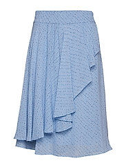 Printed Georgette Skirt - FOREVER BLUE