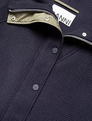 Ganni - Tech/Wool - wełniane kurtki - sky captain - 5