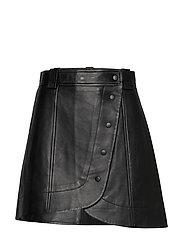 Lamb Leather - BLACK