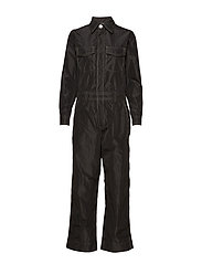 Recycled Polyester Jumpsuit - BLACK