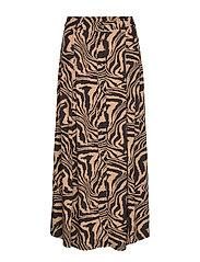 Printed Crepe Skirt - TANNIN