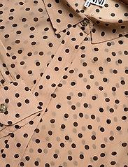 Ganni - Printed Georgette - langærmede bluser - tannin - 3
