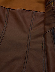 Ganni - Mixed Denim - vester - caramel café - 3