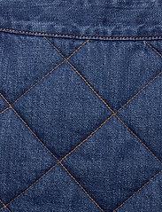Ganni - Quilted Denim - jeansowe spódnice - denim - 2