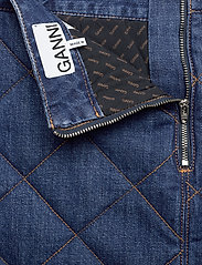 Ganni - Quilted Denim - jeansowe spódnice - denim - 3