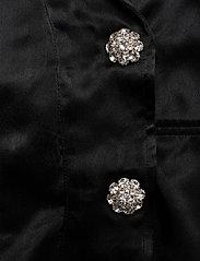 Ganni - Heavy Satin - slå-om-kjoler - black - 4