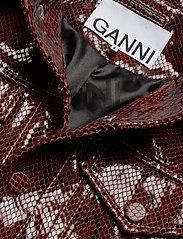 Ganni - Snake Foil Leather - nahkatakit - decadent chocolate - 5