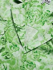 Ganni - Printed Cotton Poplin - lyhythihaiset paidat - island green - 2