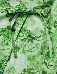 Ganni - Printed Cotton Poplin - lyhythihaiset paidat - island green - 3