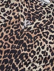Ganni - Printed Cotton Poplin - lyhythihaiset paidat - leopard - 2