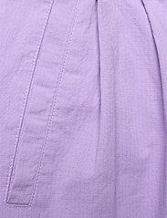 Ganni - Ripstop Cotton Chino - bukser med brede ben - violet tulip - 2