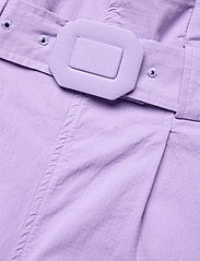 Ganni - Ripstop Cotton Chino - bukser med brede ben - violet tulip - 3