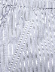 Ganni - Stripe Cotton - casual bukser - brunnera blue - 2