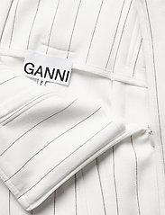 Ganni - Suiting - paper bag shorts - egret - 3