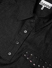Ganni - Light Linen - skjortekjoler - phantom - 2