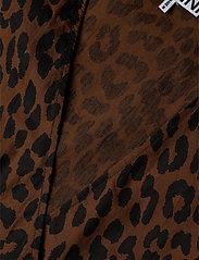 Ganni - Printed Cotton Poplin - långärmade blusar - toffee - 2
