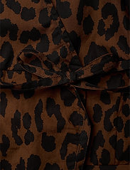 Ganni - Printed Cotton Poplin - long sleeved blouses - toffee - 3