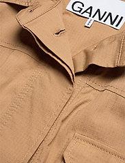 Ganni - Ripstop Cotton Chino - utility-jakker - tannin - 5