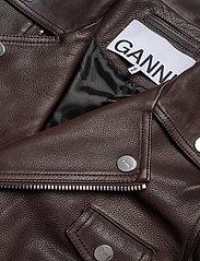 Ganni - Light Grain Leather - læderjakker - chicory coffee - 3