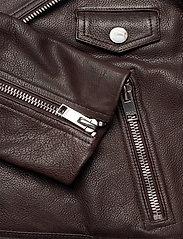 Ganni - Light Grain Leather - læderjakker - chicory coffee - 4