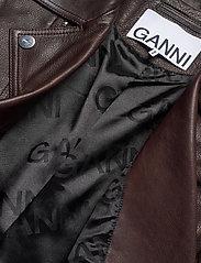 Ganni - Light Grain Leather - læderjakker - chicory coffee - 5