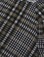 Ganni - Seersucker Check - langærmede bluser - kalamata - 2