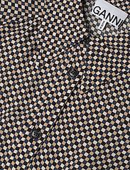 Ganni - Printed Crepe - everyday dresses - tannin - 2