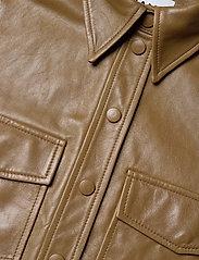 Ganni - Lamb Leather - skinnjackor - tiger's eye - 2